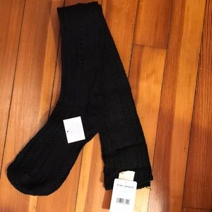 Free People Thigh High Black Knit Socks